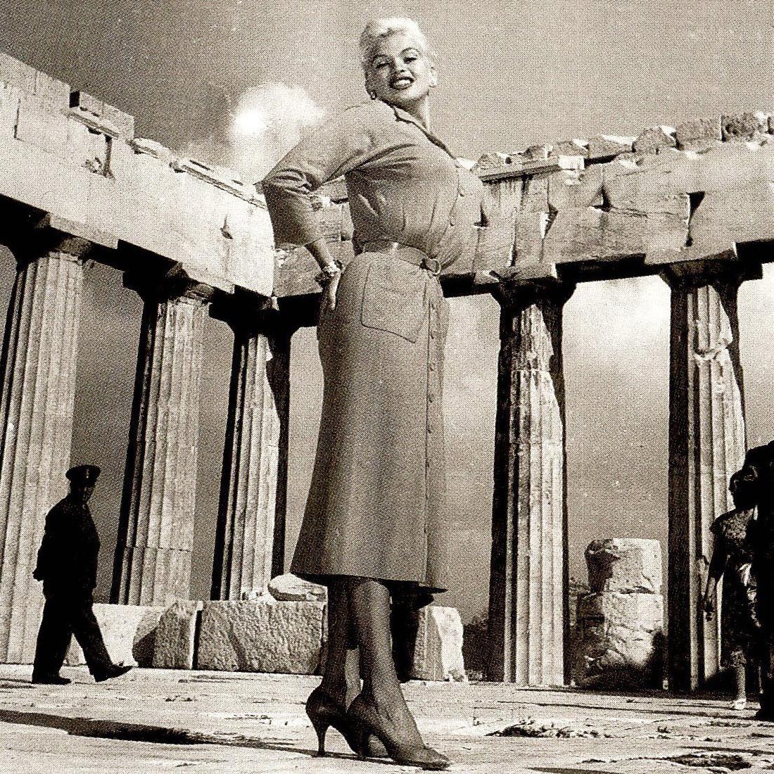 Griekenland Parthenon Jayne Mansfield